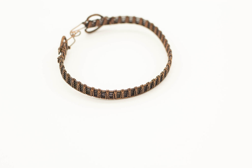 copper-wire-wrapped-fern-weave-bracelet-nymph-in-the-woods-jewelry