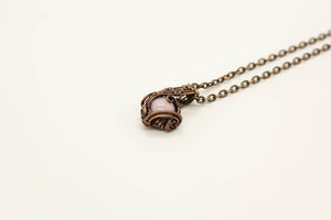 pink-fused-glass-copper-wire-wrapped-mini-pendant-nymph-in-the-woods-jewelry