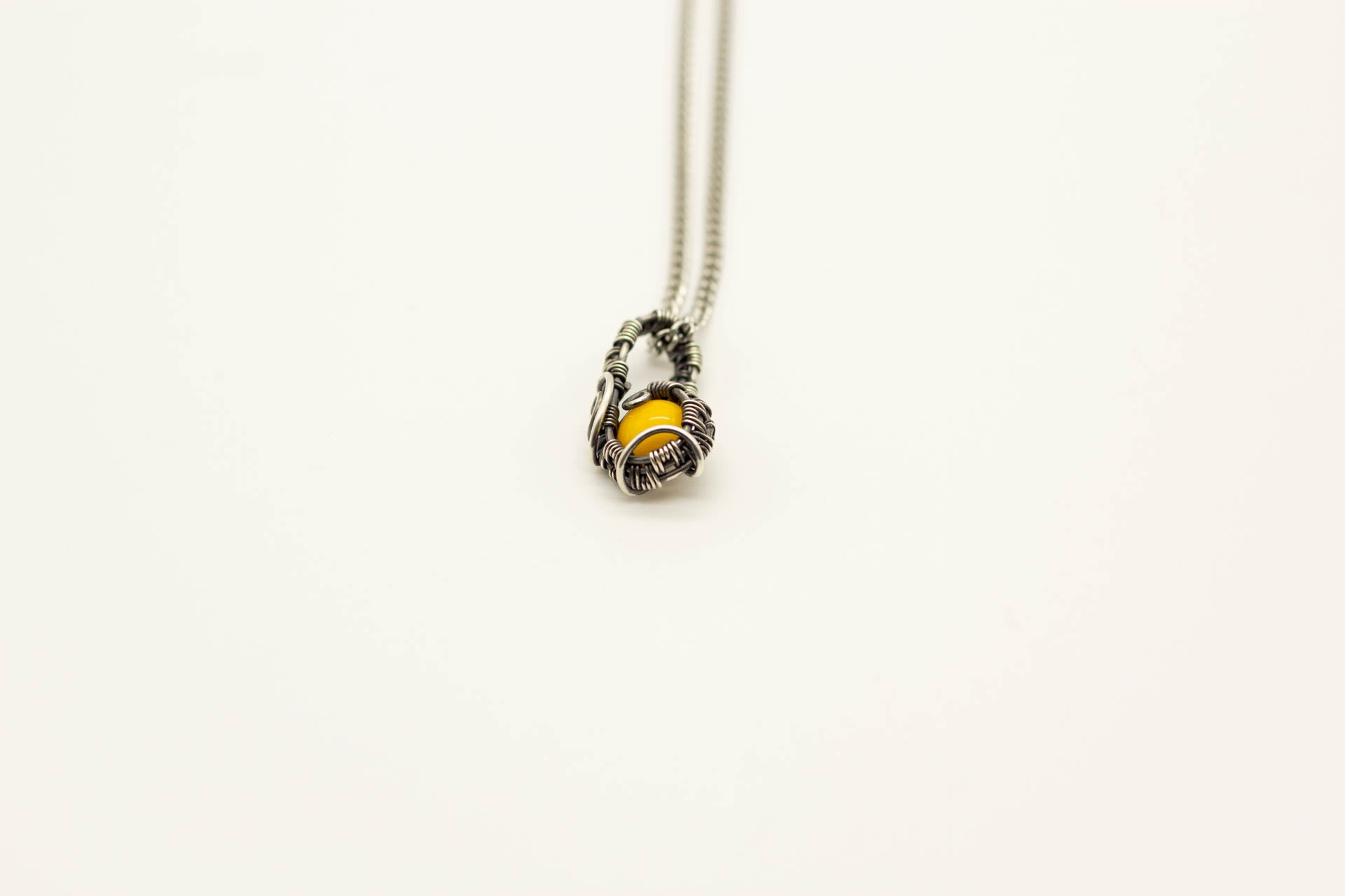 sterling-silver-mini-pendant-yellow-fused-glass
