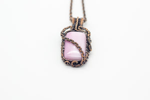 blush-pink-fused-glass-pendant-copper-wire-wrapped-nymph-in-the-woods-jewelry