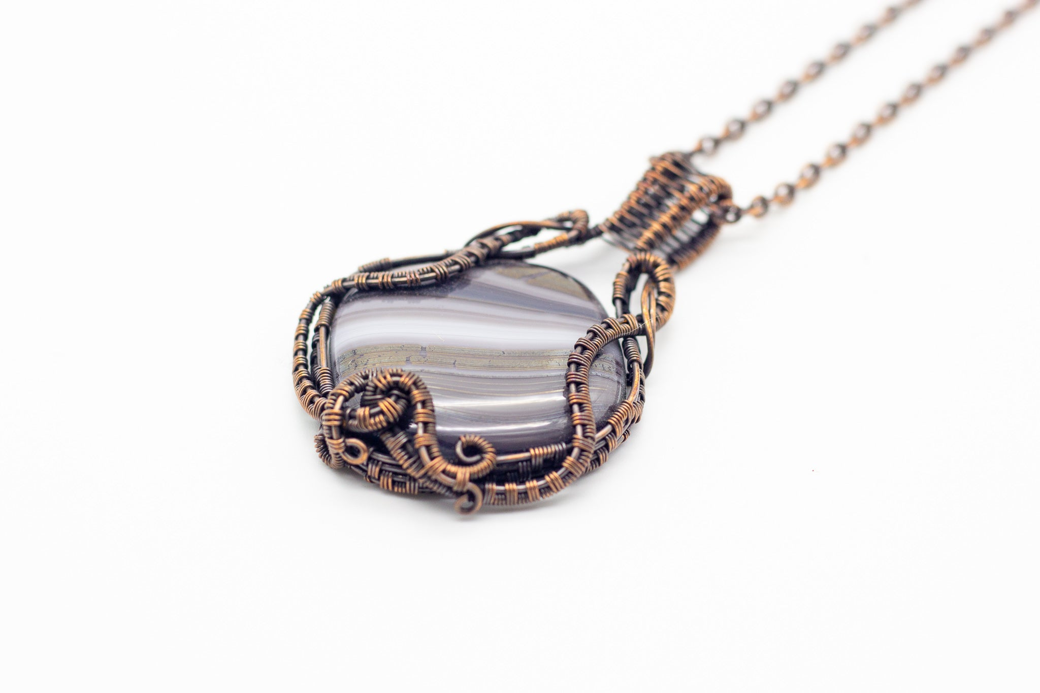 streaked-grey-statement-pendant-copper-wire-wrapping-nymph-in-the-woods-jewelry