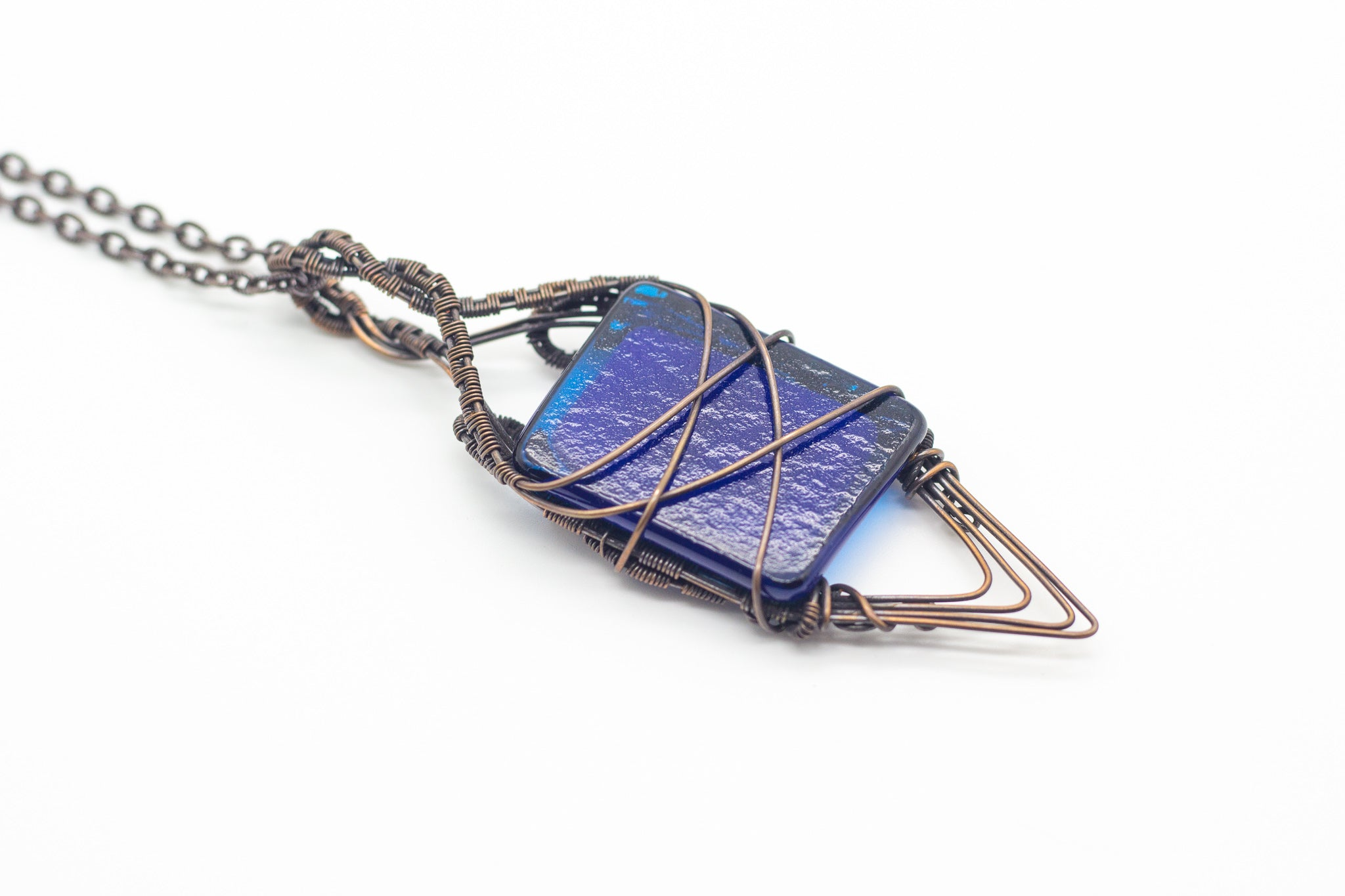 streaked-blue-double-sided-copper-pendant-nymph-in-the-woods-jewelry