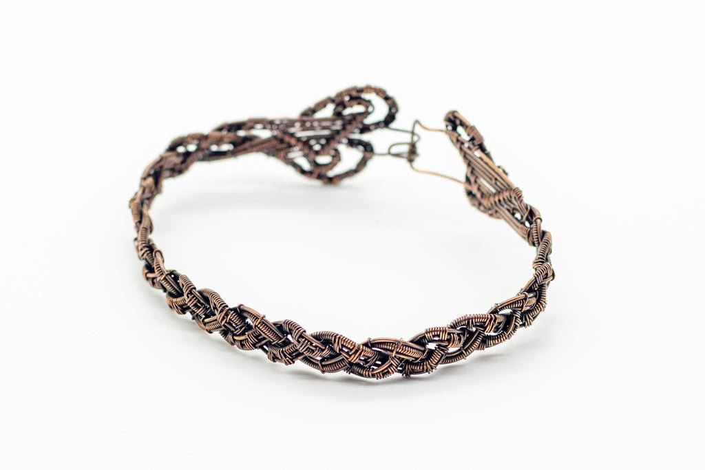 braided-copper-woven-wire-bracelet-nymph-in-the-woods-jewelry