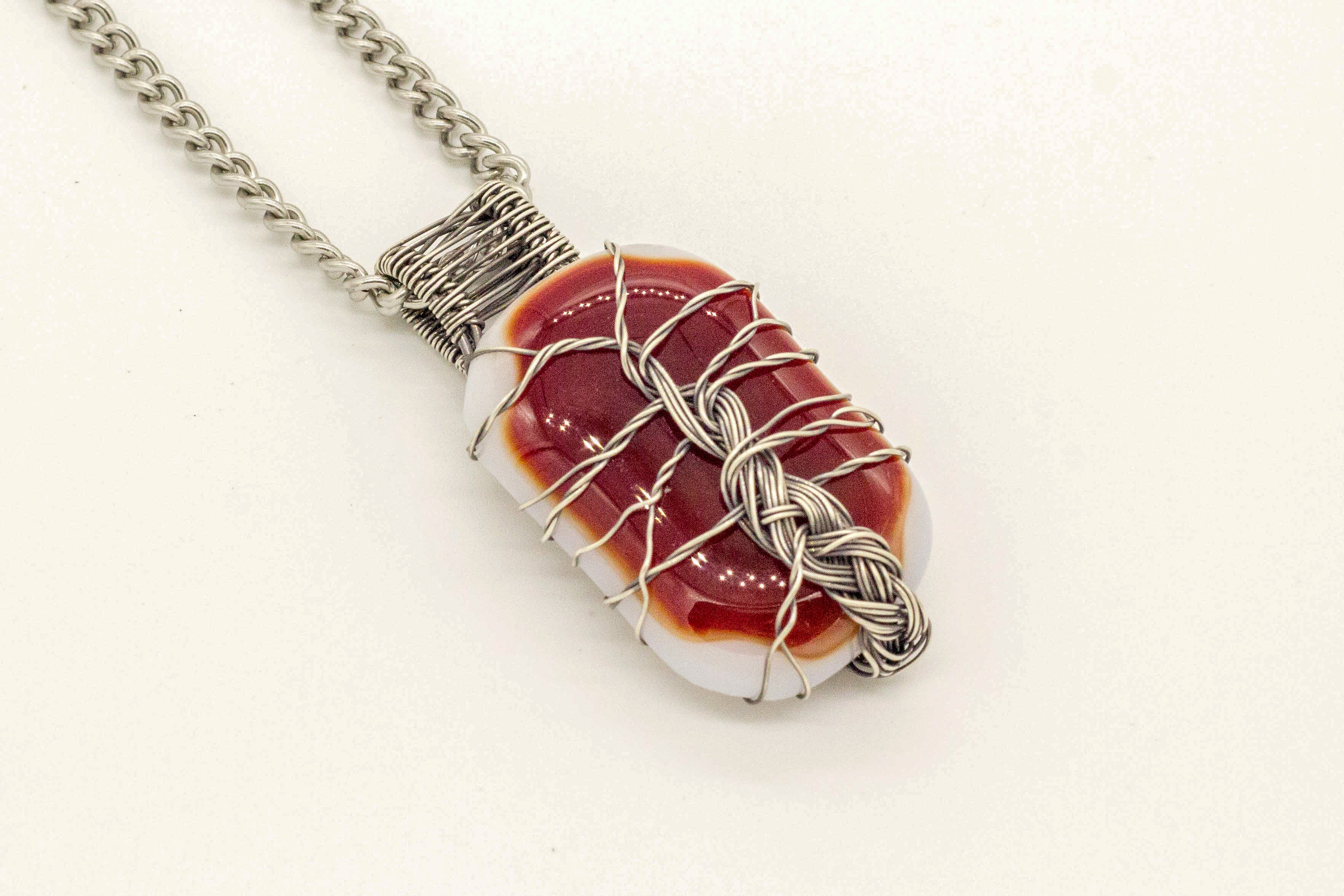 sterling-silver-wire-wrapped-tree-of-life-red-white-fused-glass-pendant-nymph-in-the-woods-jewelry