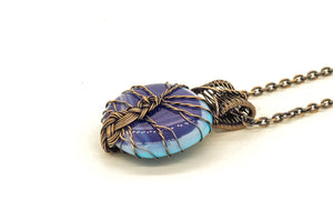copper-wire-wrapped-tree-of-life-blue-streaked-fused-glass-pendant-nymph-in-the-woods-jewelry