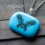 Fused Glass Pendants with Animal Themed Silk Screen Decals