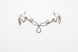 Copper wire circlet or headpiece