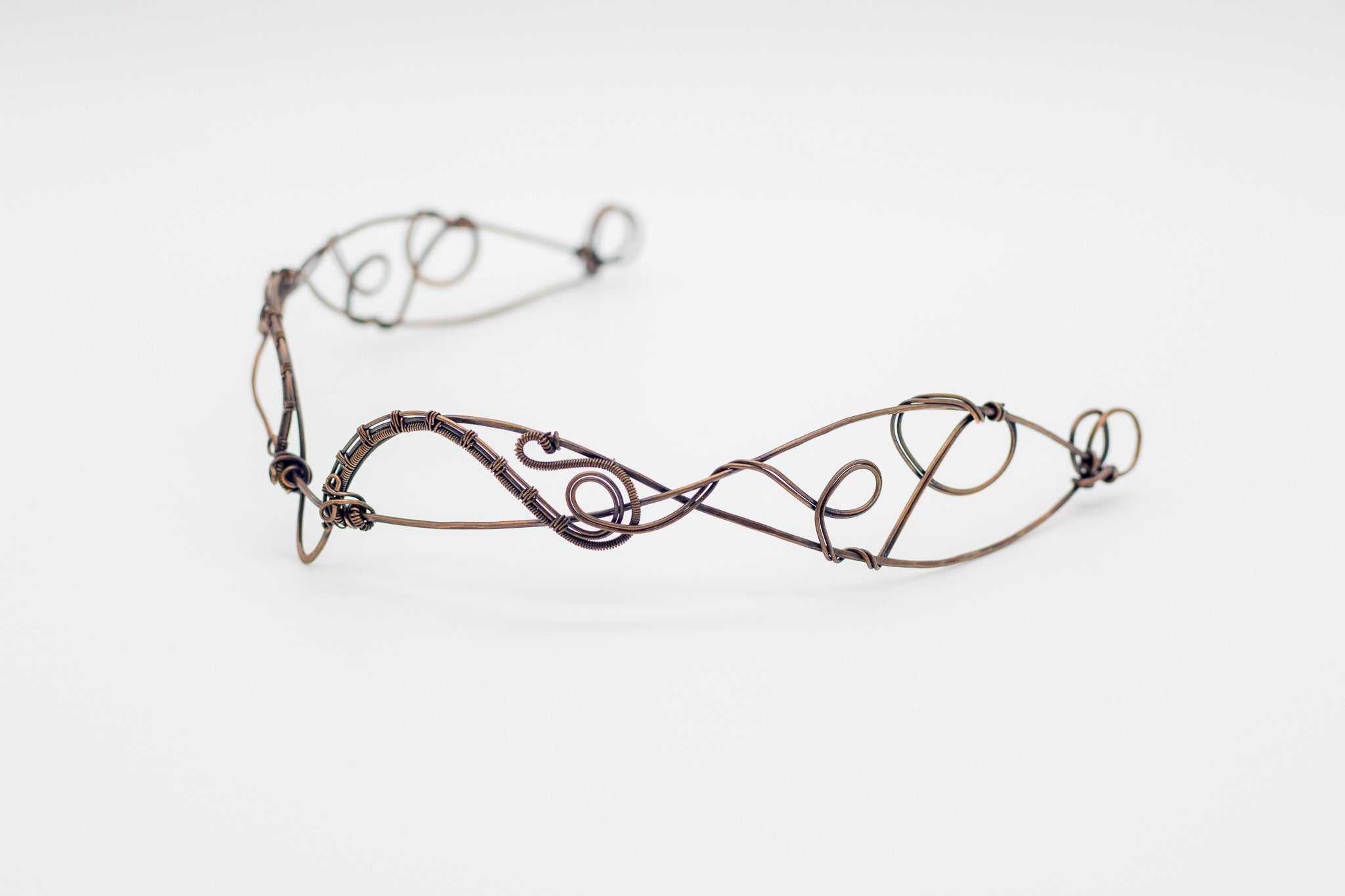 Copper wire wrapped circlet or headpiece