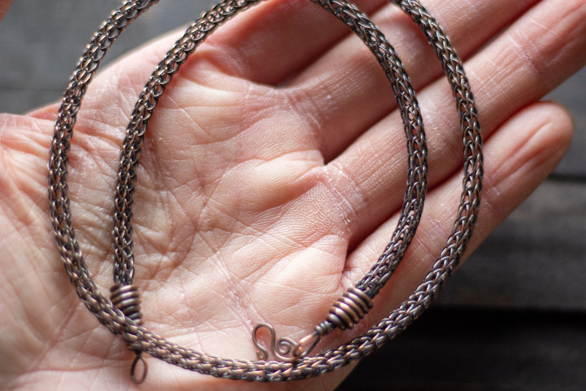 Copper Viking Knit Chain