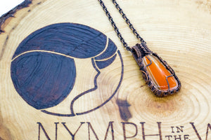 orange-streaked-fused-glass-copper-wire-wrapping-nymph-in-the-woods-jewelry