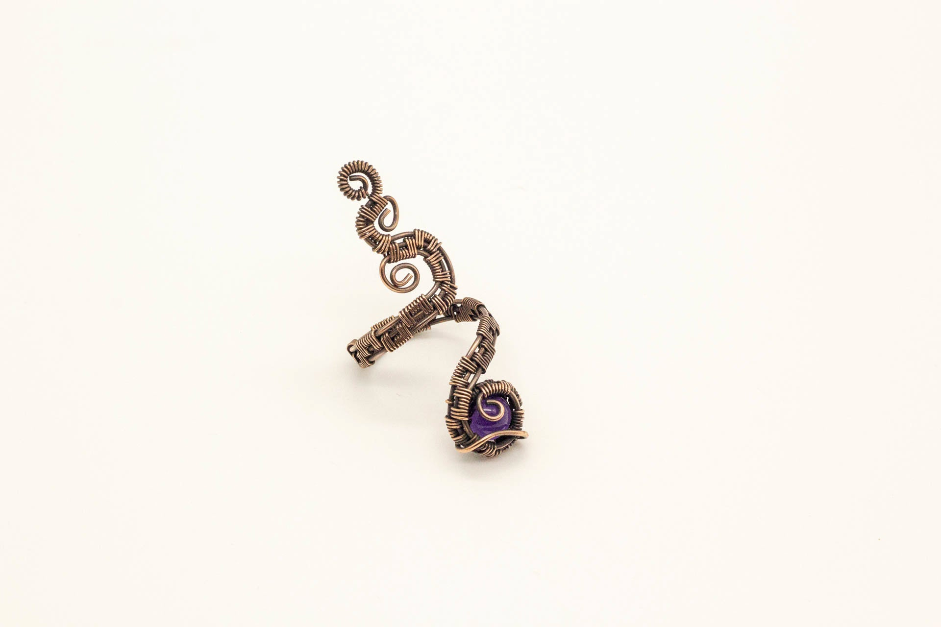 purple-fused-glass-copper-adjustable-ring-nymph-in-the-woods-jewelry