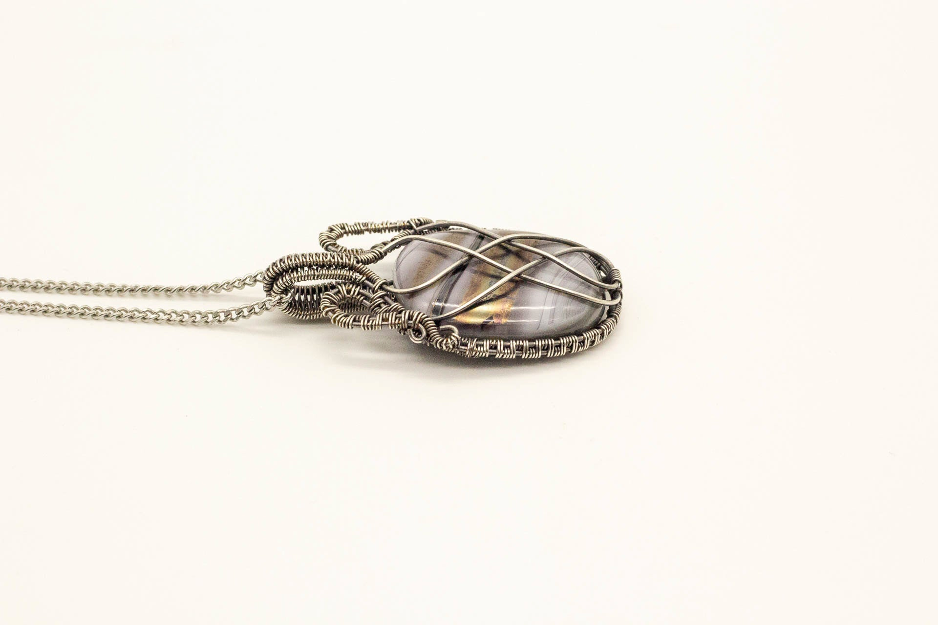 streaked-grey-statement-pendant-sterling-silver-wire-wrapped-nymph-in-the-woods-jewelry