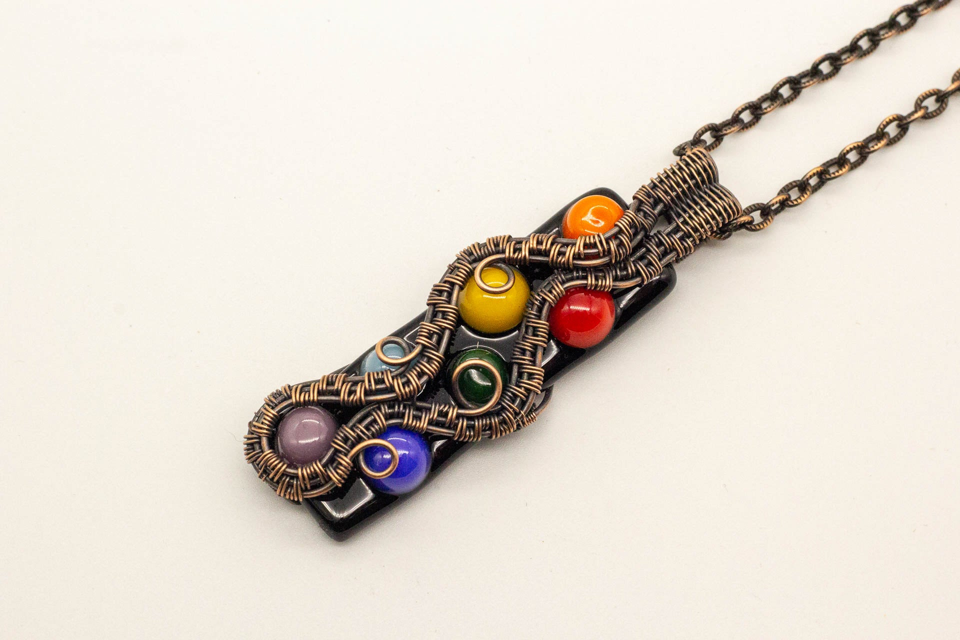 rainbow-chakra-inspired-fused-glass-pendant-copper-wire-wrapping