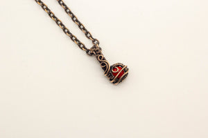 red-fused-glass-mini-pendant-copper-wire-wrapping-nymph-in-the-woods-jewelry