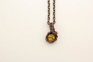 yellow-fused-glass-mini-pendant-copper-wire-wrapping-nymph-in-the-woods-jewelry