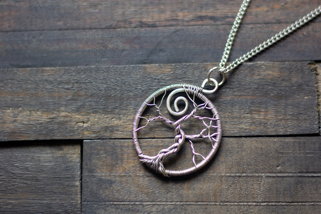 Sterling Silver Circular Tree of Life Pendant