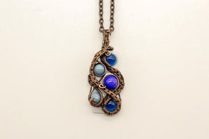 multi-shade-blue-dots-fused-glass-pendant-copper-wire-wrapping-nymph-in-the-woods-jewelry