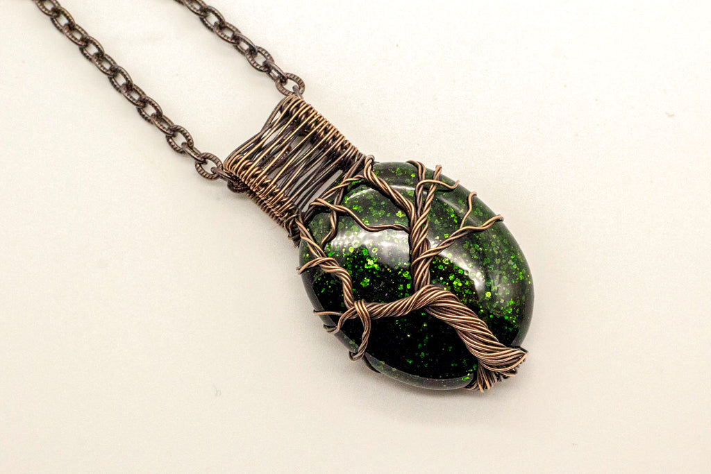 copper-wire-wrapped-tree-of-life-pendant-green-glitter-dichroic-fused-glass-nymph-in-the-woods-jewelry