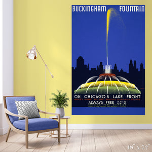 Buckingham Fountain Colossal Art Print