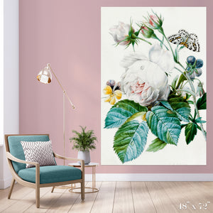 Butterfly and Blossom Colossal Art Print