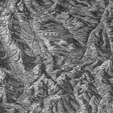 Load image into Gallery viewer, Wall Mural lifestyle image of Colorado Topography in Black & White color, printed on wallpaper. Custom options available.