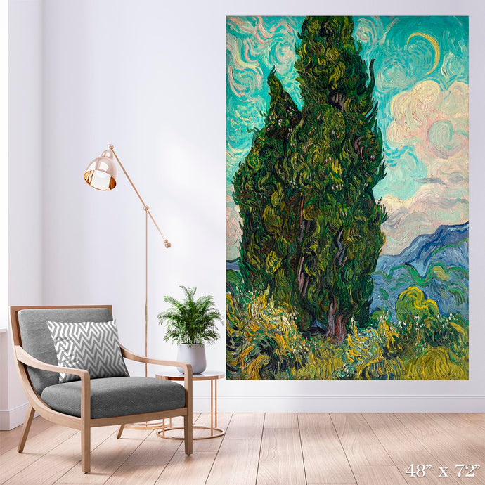 Cypresses Colossal Art Print