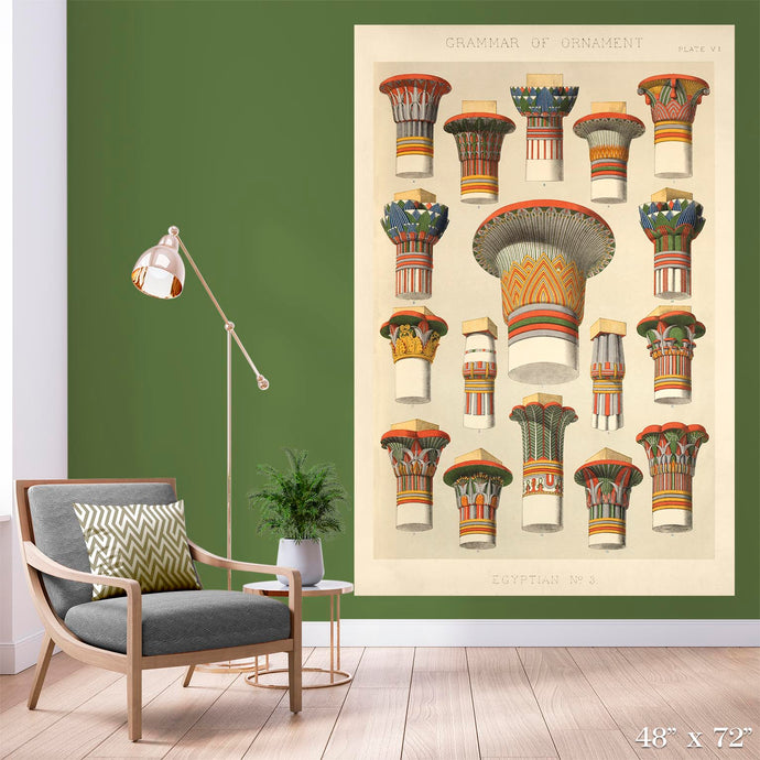 Egyptian Columns Colossal Art Print