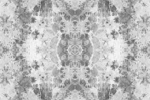 Wall Mural lifestyle image of the Shibori Fabric design in gray color, printed on wallpaper. Custom options available.