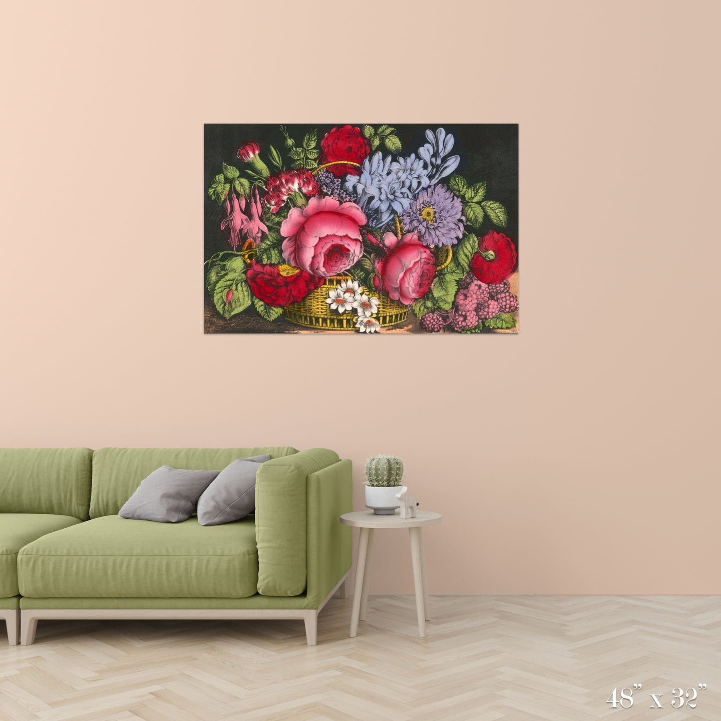 Flower Basket Colossal Art Print