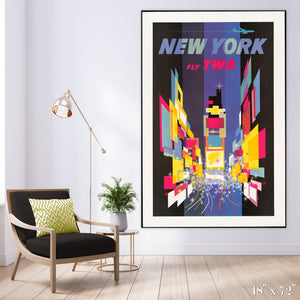 Fly New York - Times Square Colossal Art Print