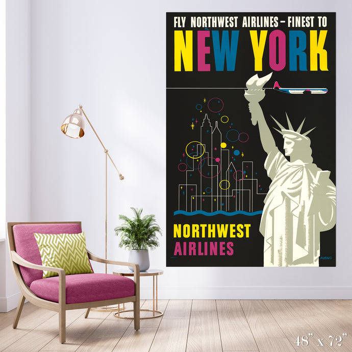 Fly New York - Statue of Liberty Colossal Art Print