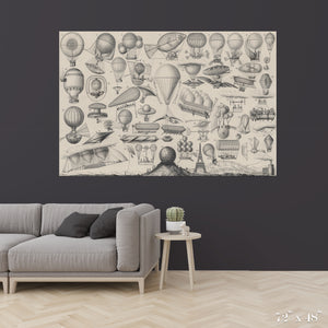 Flying Contraptions Colossal Art Print