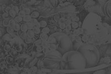 Load image into Gallery viewer, Wall Mural lifestyle image of fruit still life design in dark gray color, printed on wallpaper. Custom options available.