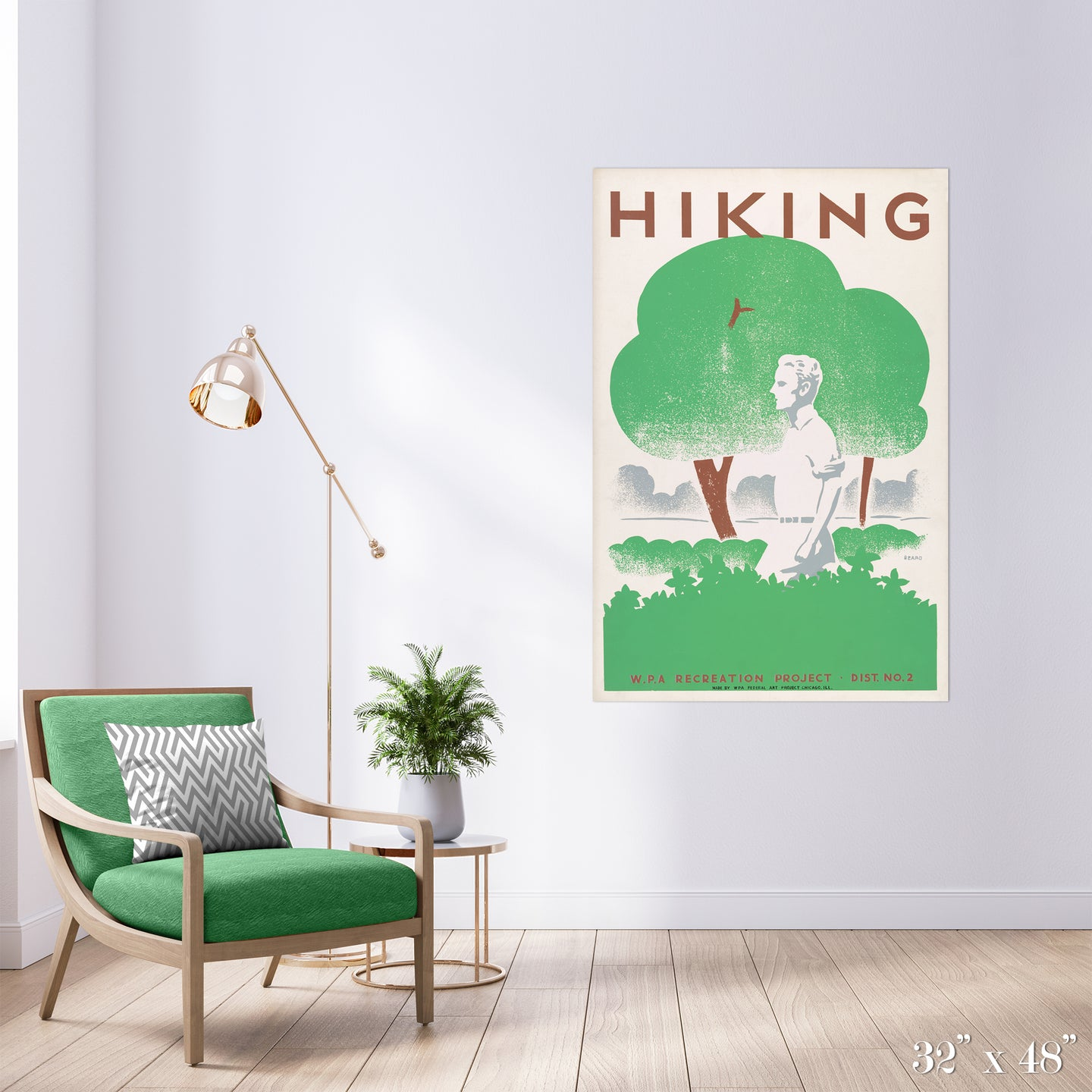 Hiking V2 Colossal Art Print