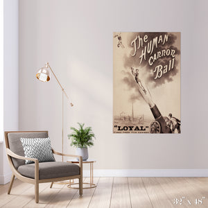 Human Cannonball Colossal Art Print