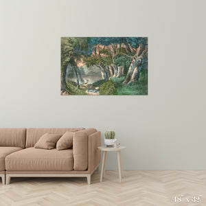 Lake in the Woods Colossal Art Print