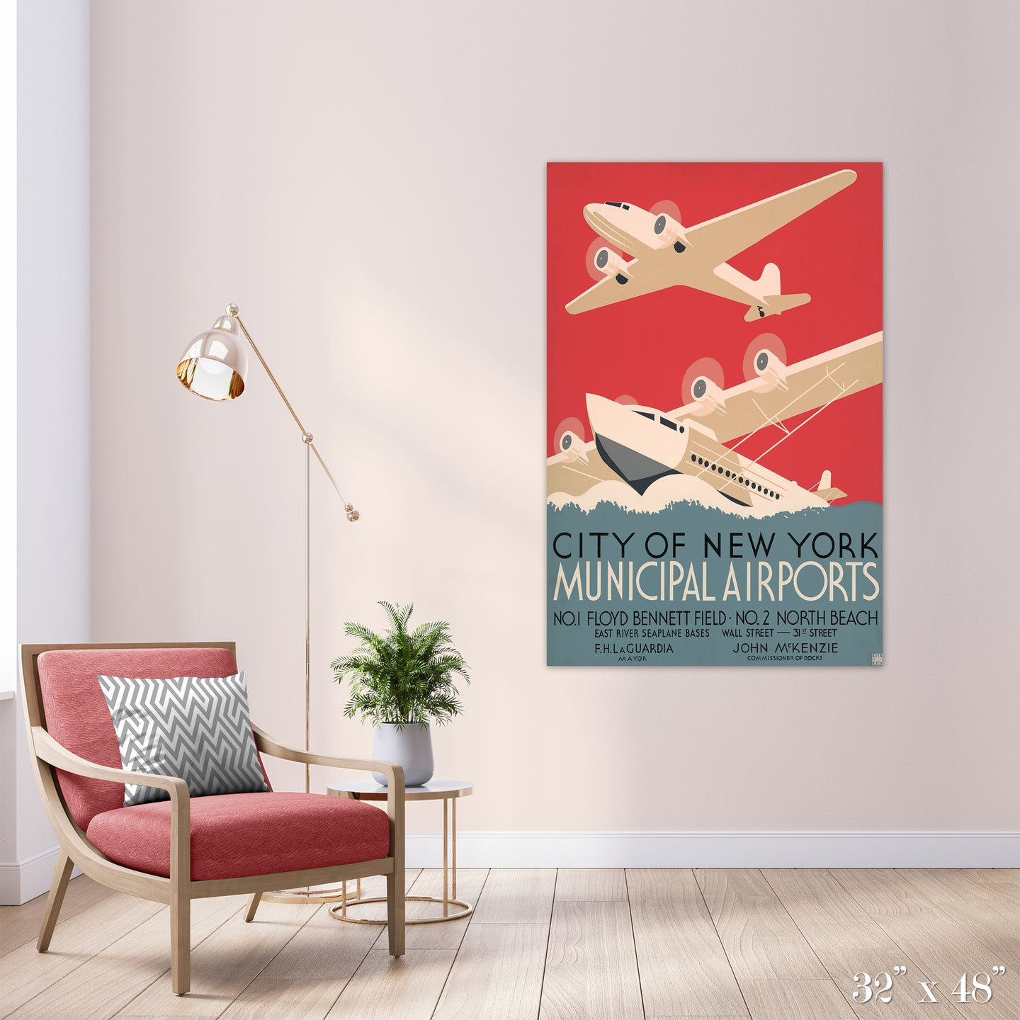 NY Airports Colossal Art Print