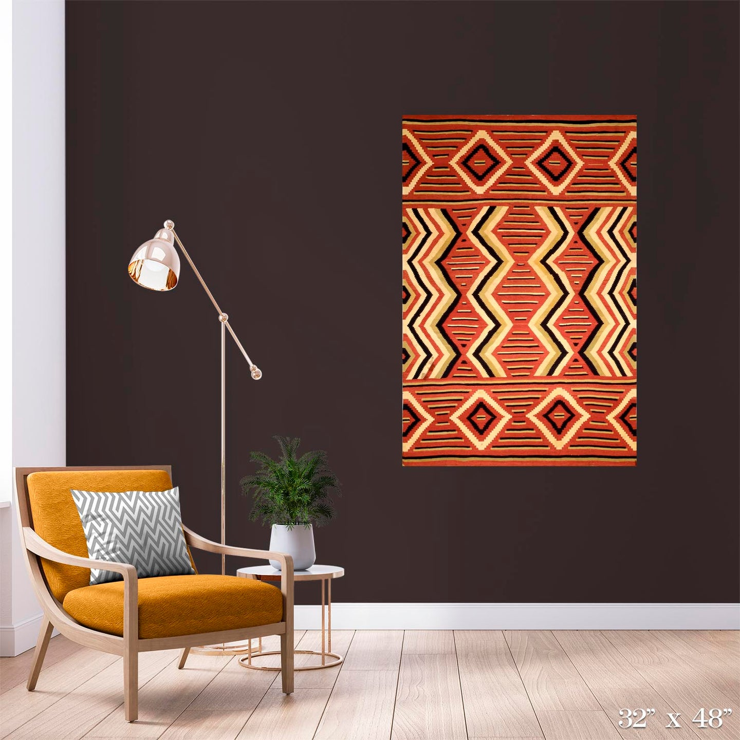 Navajo Wearing Blanket Colossal Art Print