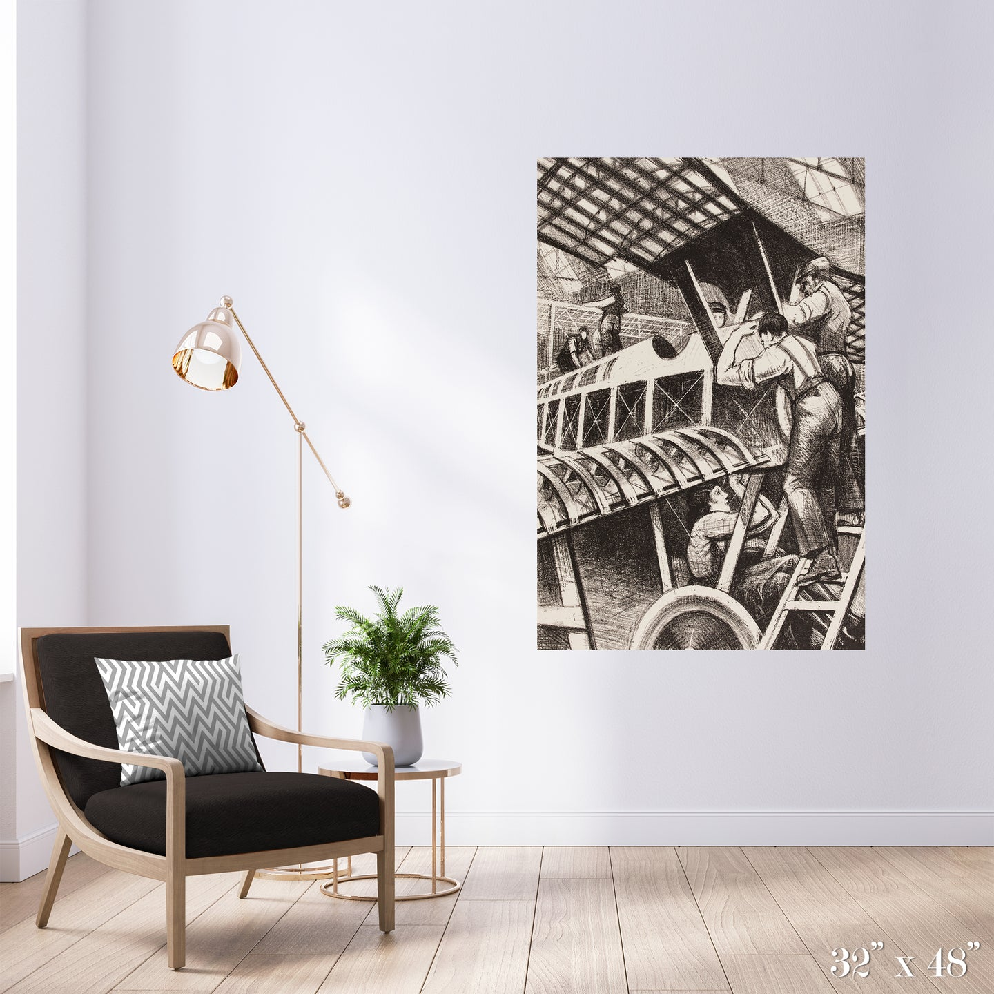 Plane Makers Colossal Art Print