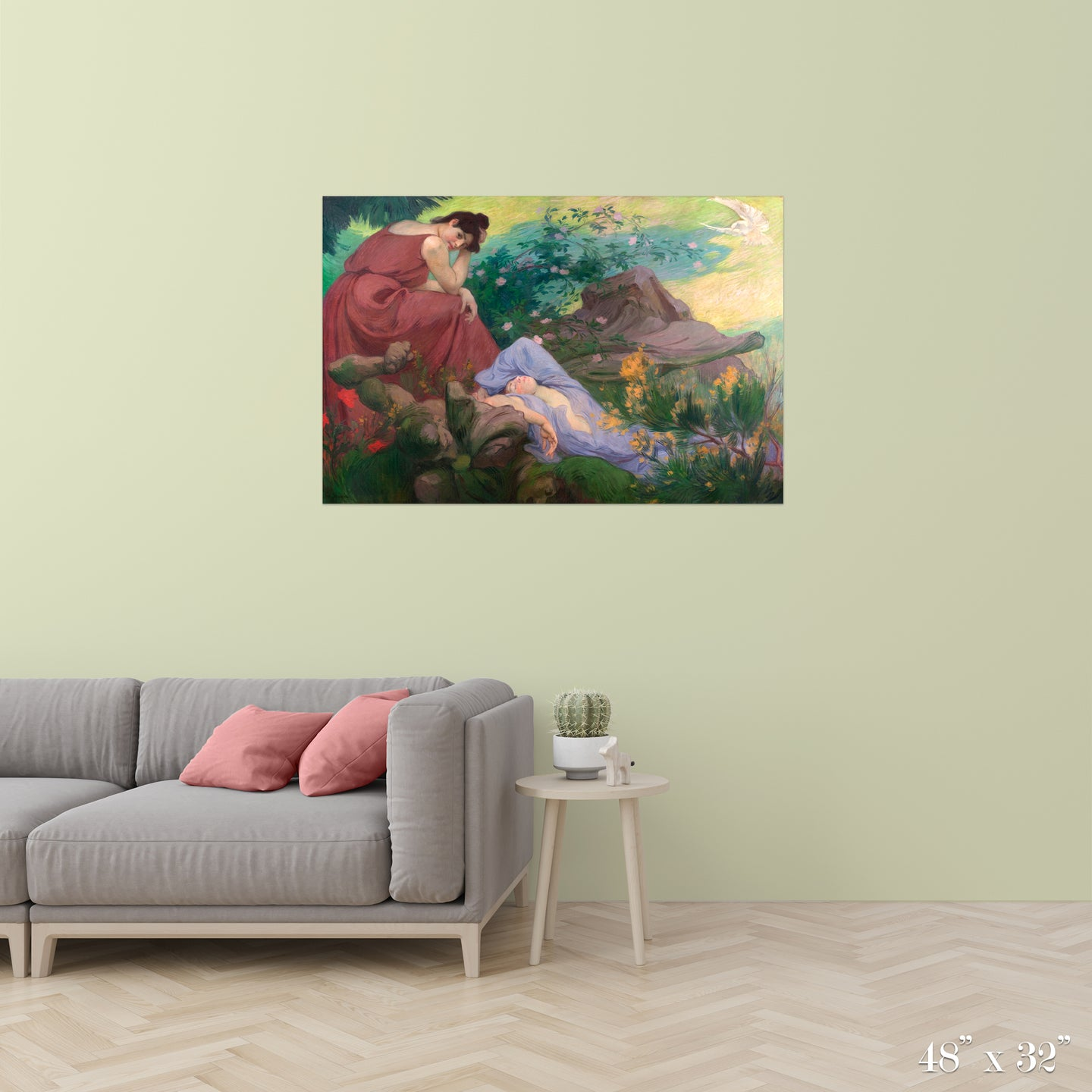 Joyful and Peaceful Rest: Meditation Colossal Art Print