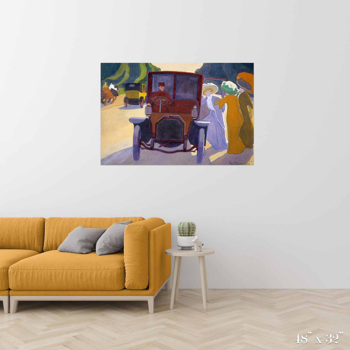 The Road with Acacias Colossal Art Print