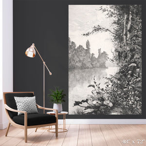River Bank View Colossal Art Print