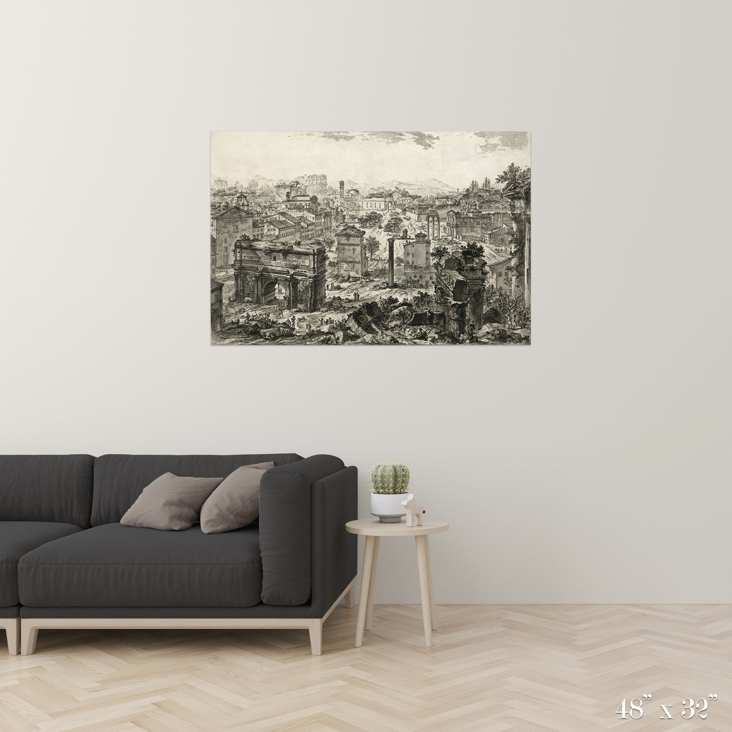 Ruins Colossal Art Print