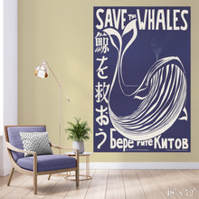 Load image into Gallery viewer, Save the Whales Colossal Art Print