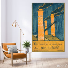 Load image into Gallery viewer, Smokestacks Colossal Art Print