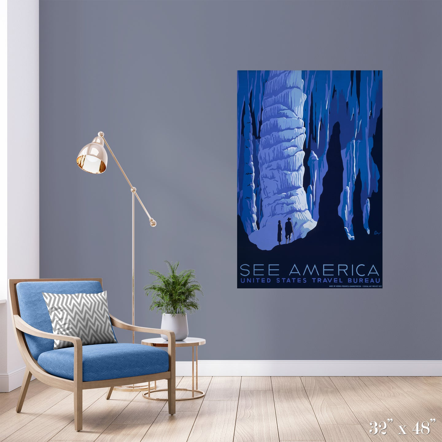 Spelunking Colossal Art Print