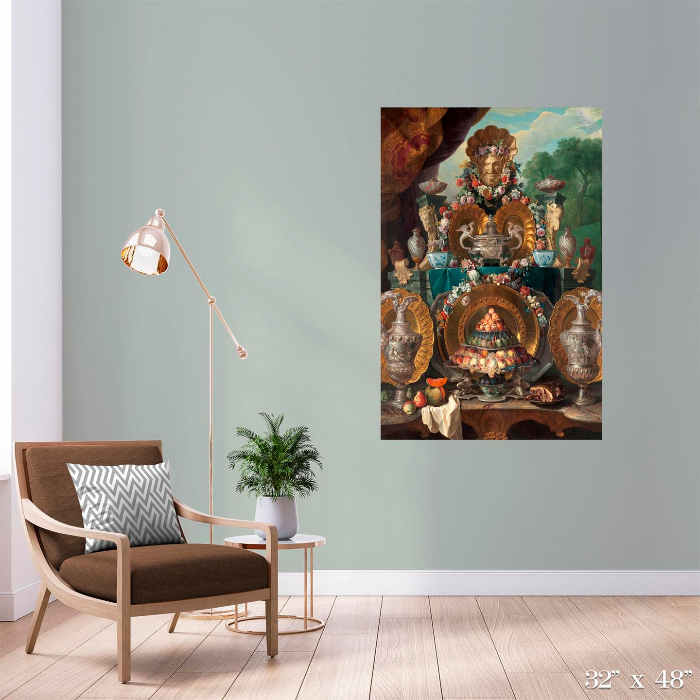 Still Life with Silver Colossal Art Print