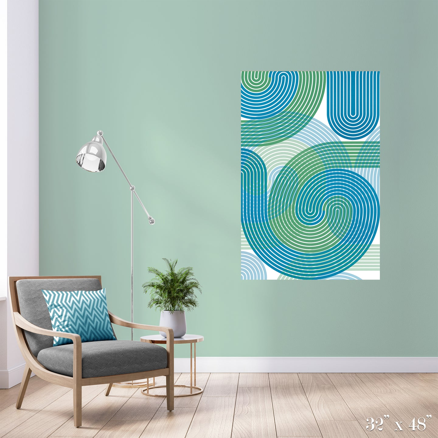 Stripe Vortex Colossal Art Print