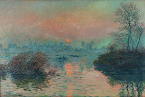 Sunset on the Seine Mural