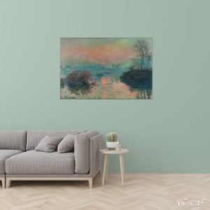 Sunset on the Seine Colossal Art Print